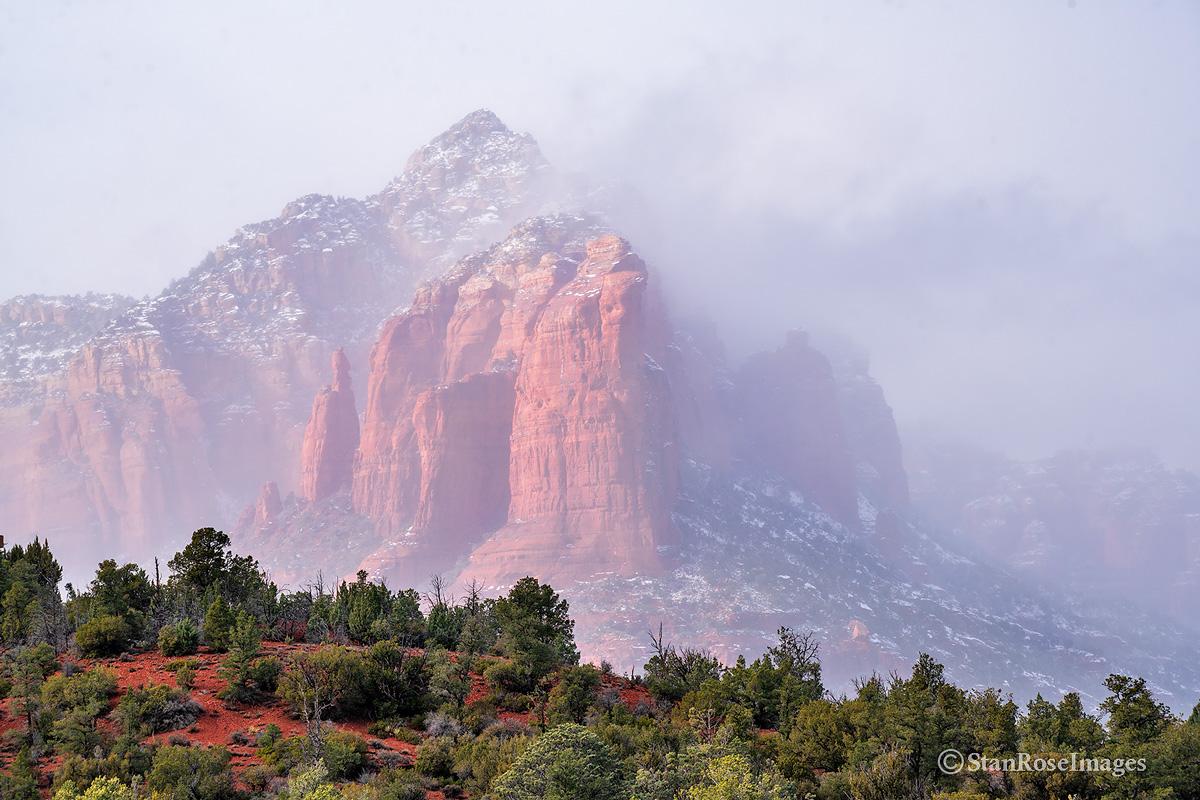foggy,Sedona,thunder mountain, photo