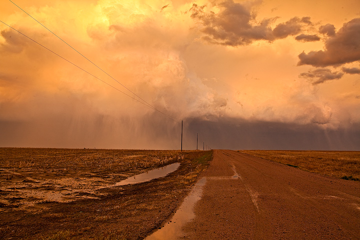 Couldnt get too far on these muddy farm roads, but the colors were amazing in the distant storms at sunset!
