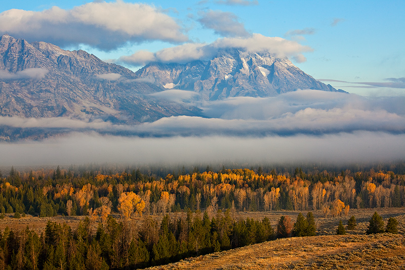 Snake River and Tetons, October.