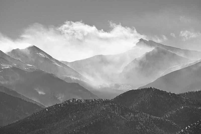 Sangre De Cristo Mountains, after a snow storm