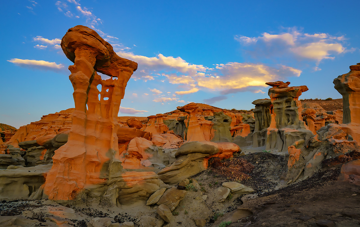 Valley of dreams, New Mexico, badlands, alien city, photo