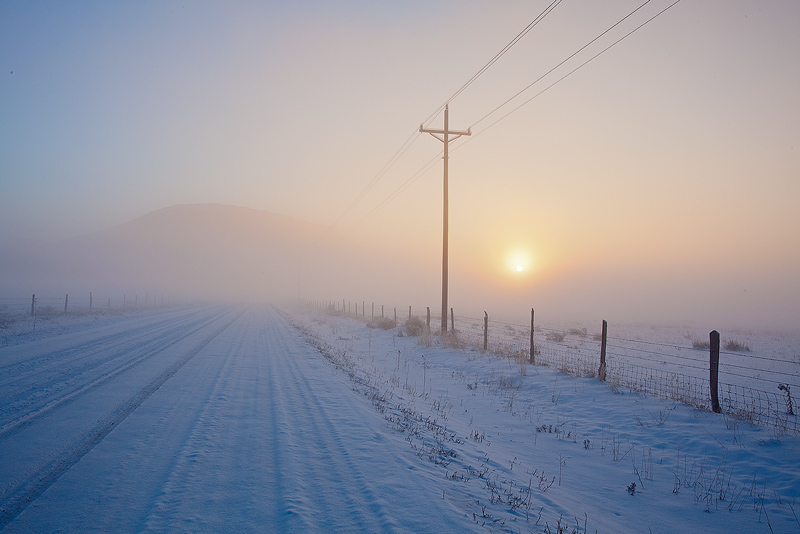 Westcliffe,snow,fog, photo