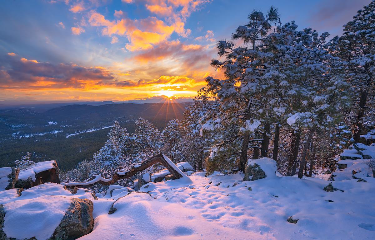 Mogollon Rim,sunset,winter, photo
