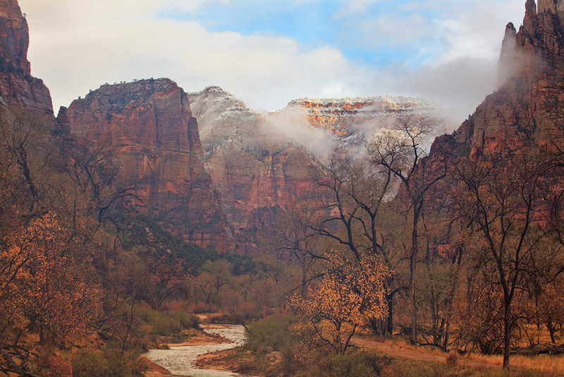 Zion National Park,Utah,rain, photo
